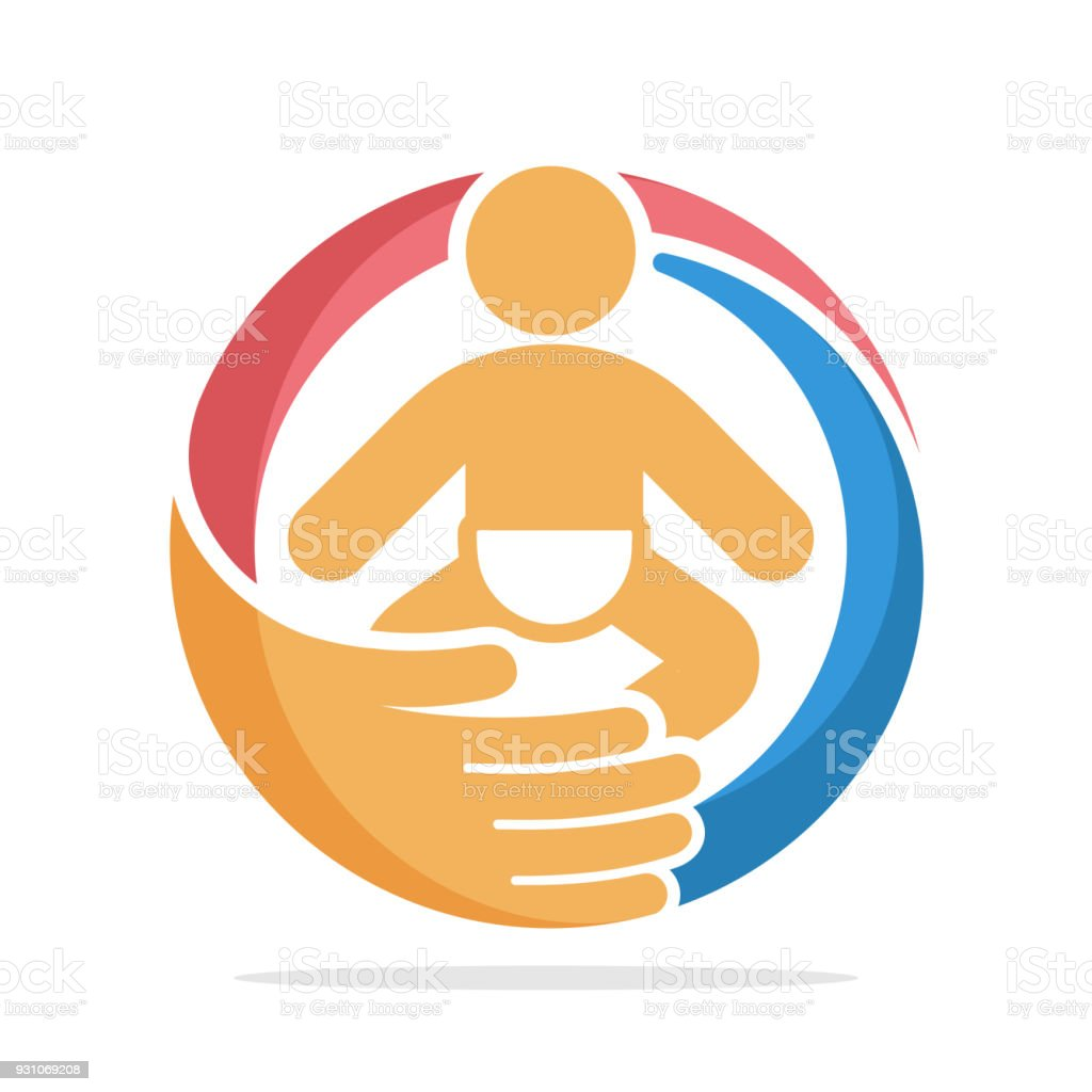 icon with baby care concept vector art illustration