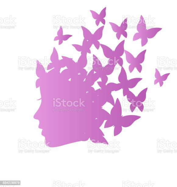 Icon with beauty woman profile with butterflies on grayscale vector id534226979?b=1&k=6&m=534226979&s=612x612&h=zntjlnb76ayrbiijuivw4yktihuxkmtzi0  3nnlrm0=