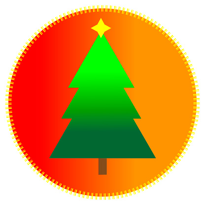 icon with christmas tree