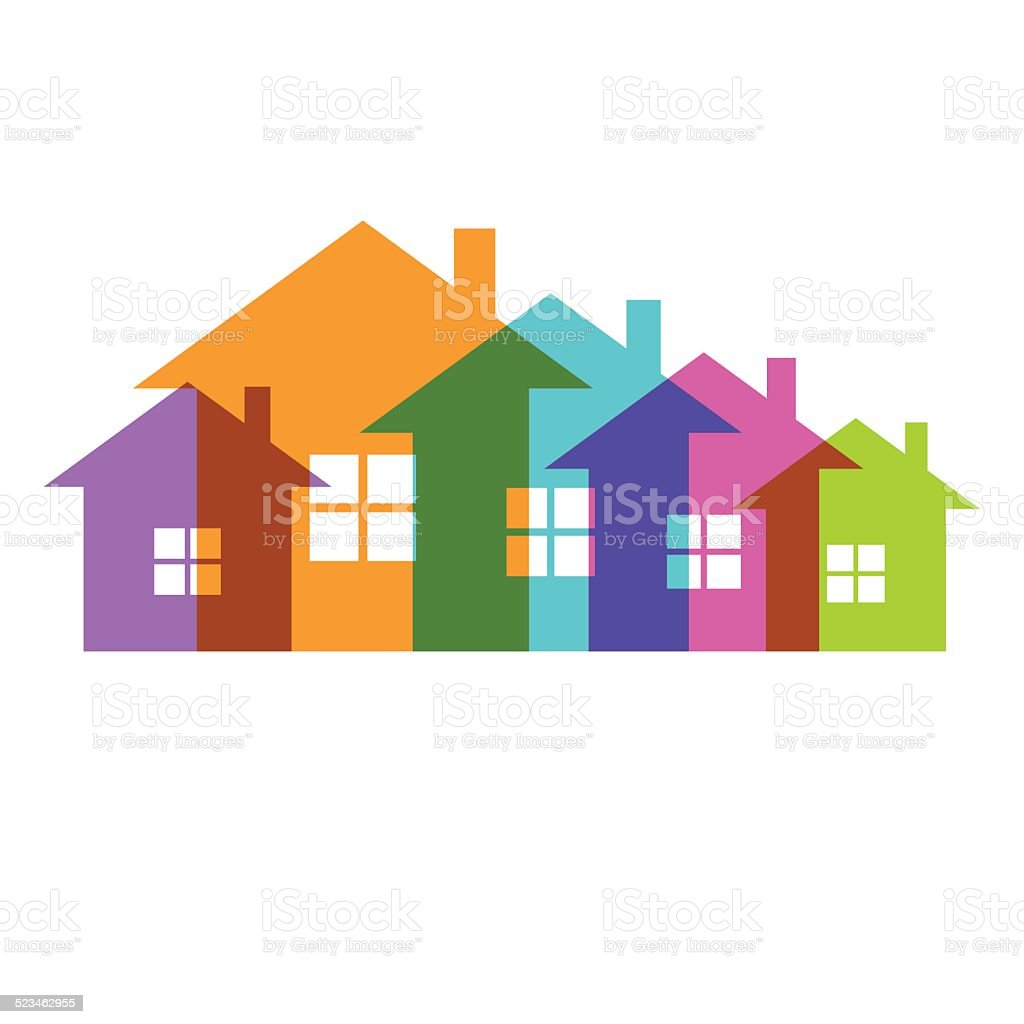 royalty free transparent house clip art vector images rh istockphoto com  row of houses clipart