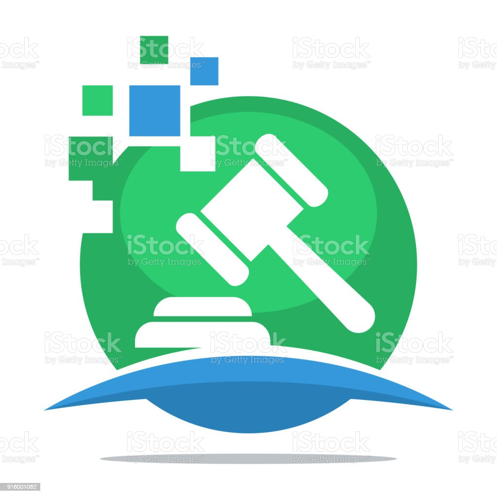 icon with the concept of digital bid service vector art illustration
