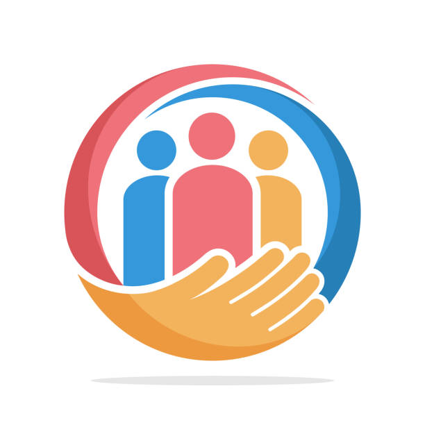 icon  with the concept of family care, care about humanity - family stock illustrations