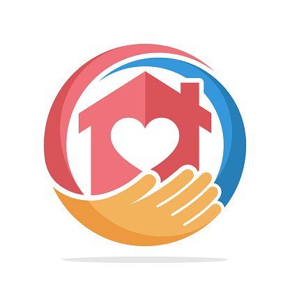 icon  with the concept of social service about home care