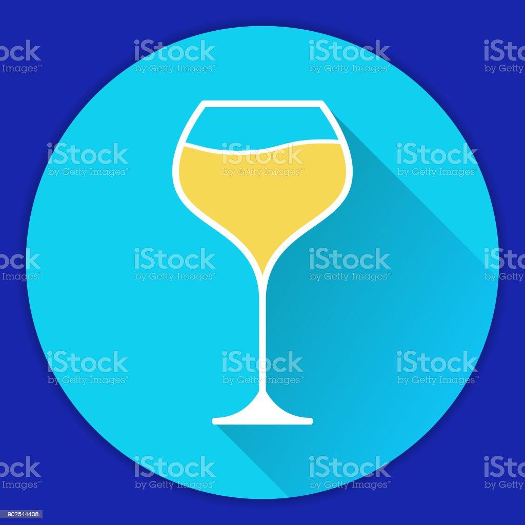 Symbol Mit Weißen Weinglas Burgunder Alkoholisches Getränk ...