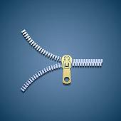 Icon zipper. Flat graphic.