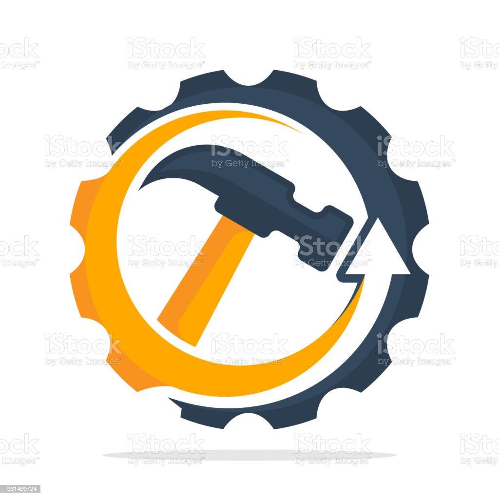 ícone ícone com o conceito de serviço de reparação de faz-tudo - ilustração de arte em vetor