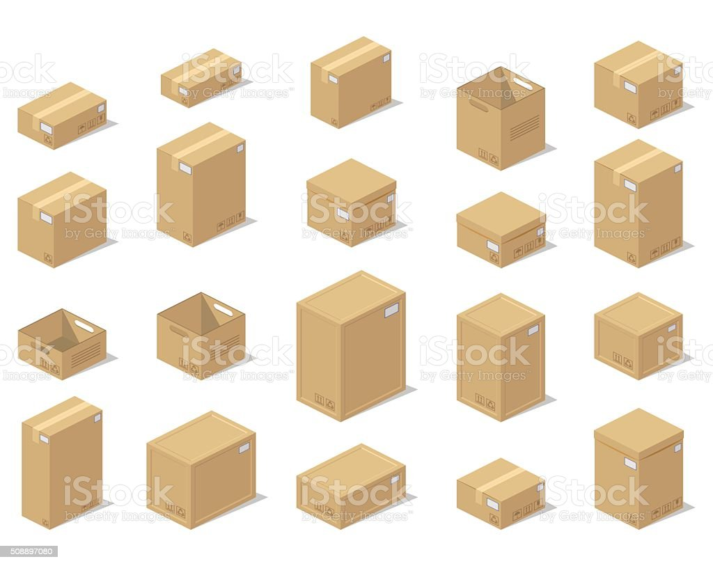 icons 3d boxes realistic style of vector graphics stock illustration -  download image now - istock  istock