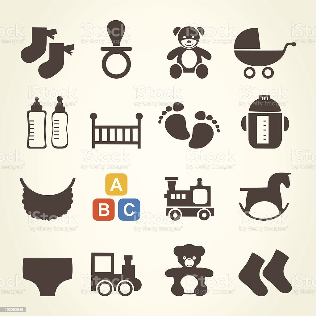 Icons a family royalty-free stock vector art
