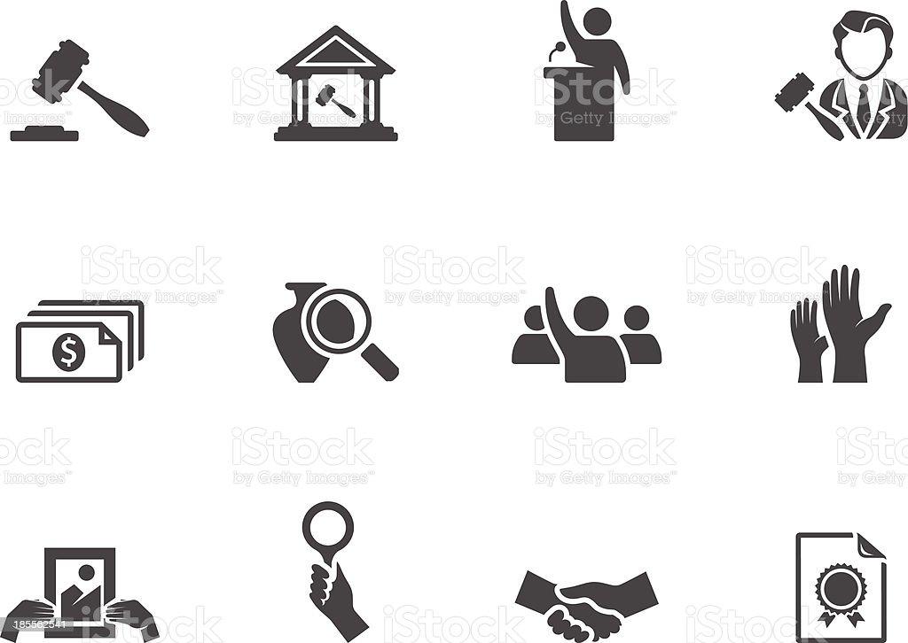 BW Icons - Auction vector art illustration