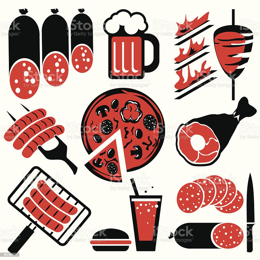 icons barbecue royalty-free stock vector art