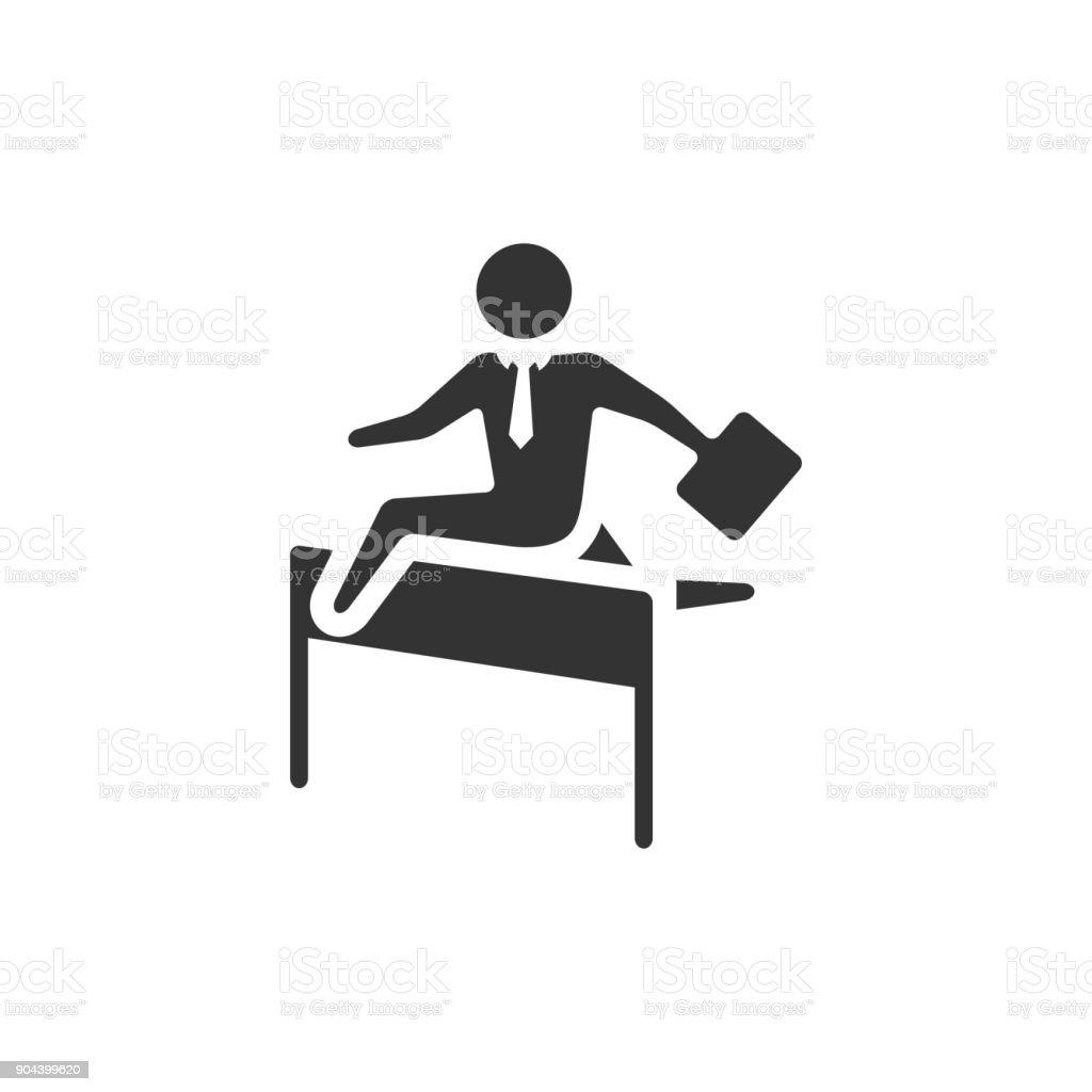 BW Icons - Businessman challenge vector art illustration
