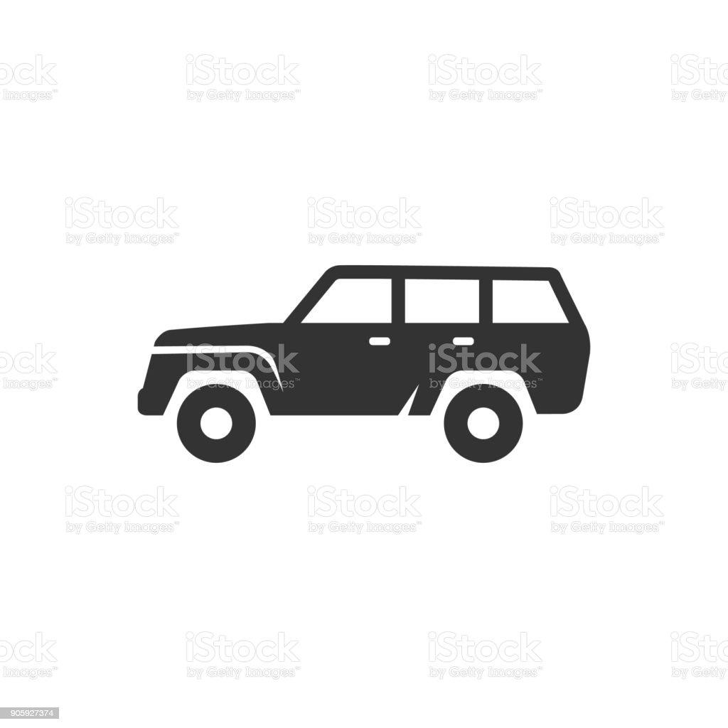 BW Icons - Car vector art illustration