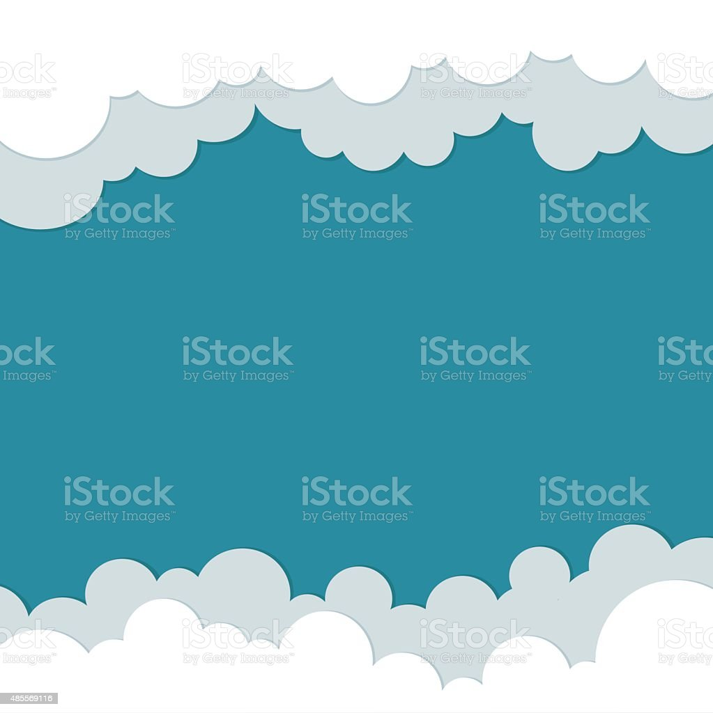 Icons cloud for your design. space for text. flat illustrations vector art illustration