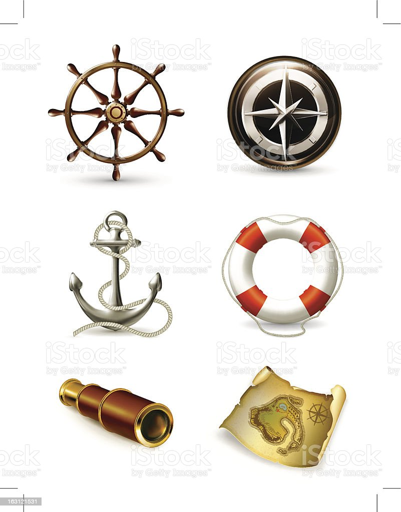 Icons depicting various nautical/marine icons royalty-free icons depicting various nauticalmarine icons stock vector art & more images of adventure