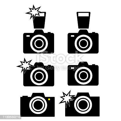 icons digital photography camera  vector illustration, multimedia icons