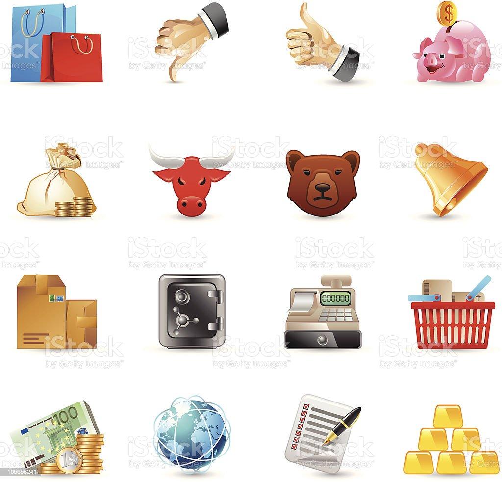 Icônes de finances - Illustration vectorielle