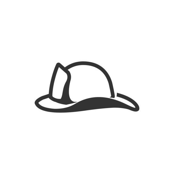 bw-icons - feuerwehrmann hut - sportschutzhelm stock-grafiken, -clipart, -cartoons und -symbole