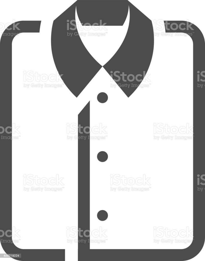 BW Icons - Folded shirt vector art illustration