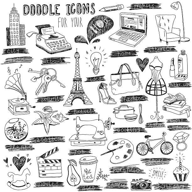 symbole für blog - fotografieanleitungen stock-grafiken, -clipart, -cartoons und -symbole