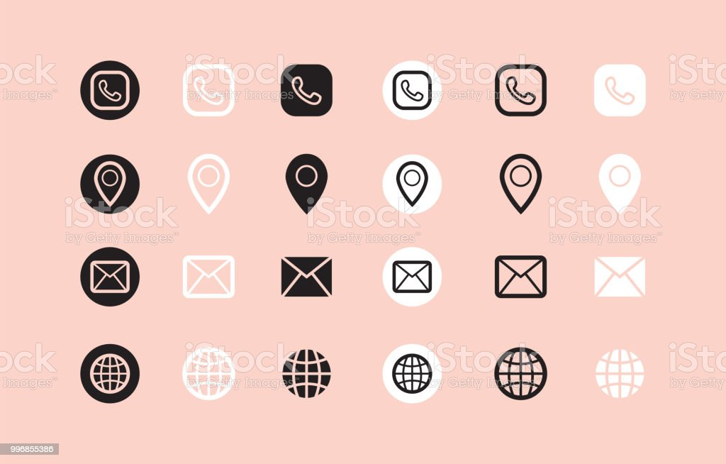 Icones Pour Cartes De Visite Cliparts Vectoriels Et Plus D