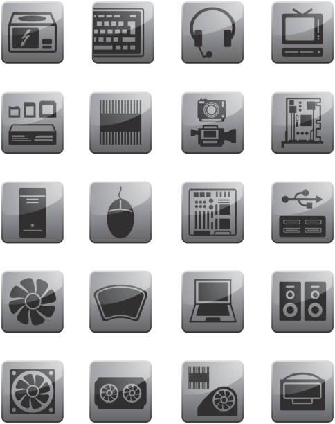 symbole für computer-hardware ausstattung - mauspad stock-grafiken, -clipart, -cartoons und -symbole