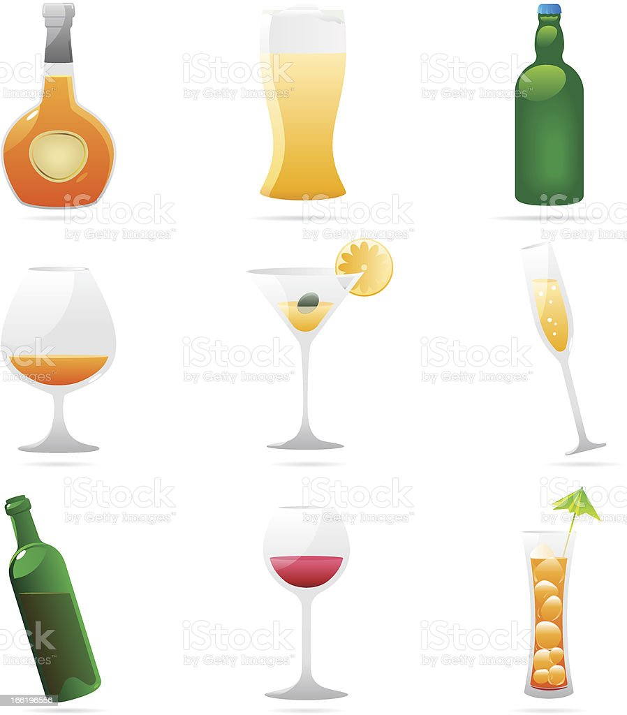 Icons for drinks royalty-free stock vector art