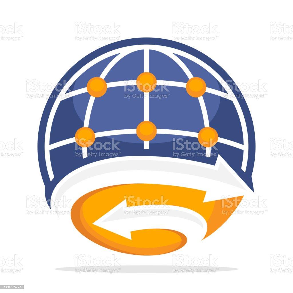 Symbole Für Globale Netzwerkmanagement Mit Einer Kombination Aus ...