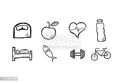 917079152istockphoto icons for health concept 1127087596