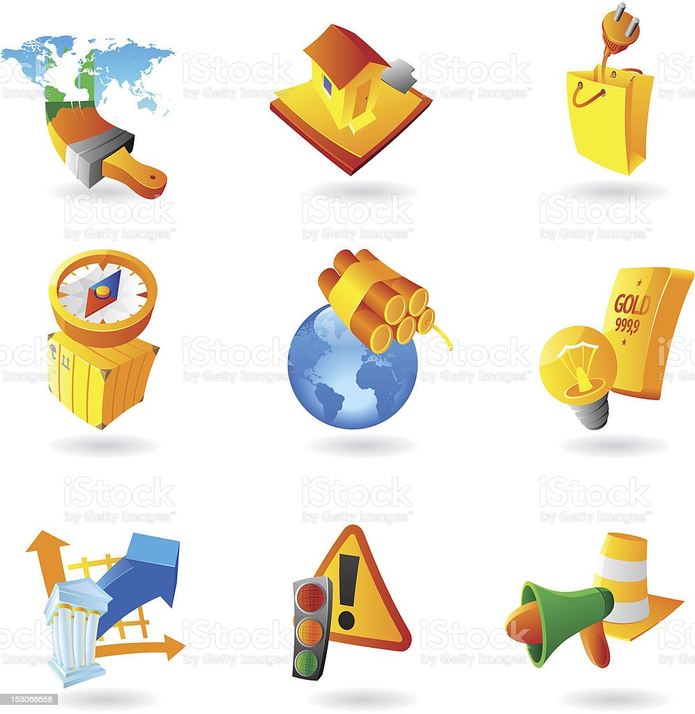 Icons for industry royalty-free stock vector art