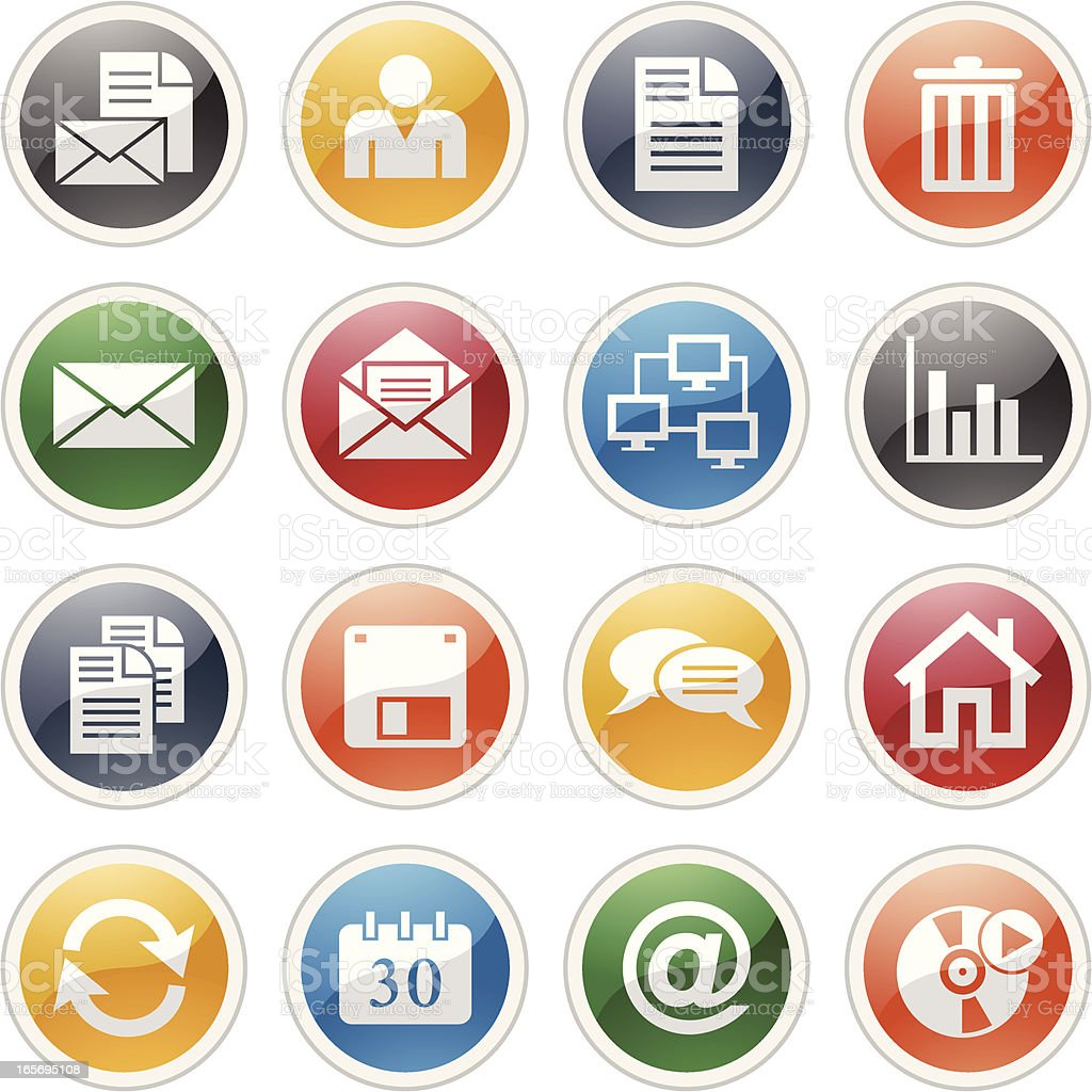 Icons for mail and other technology royalty-free stock vector art