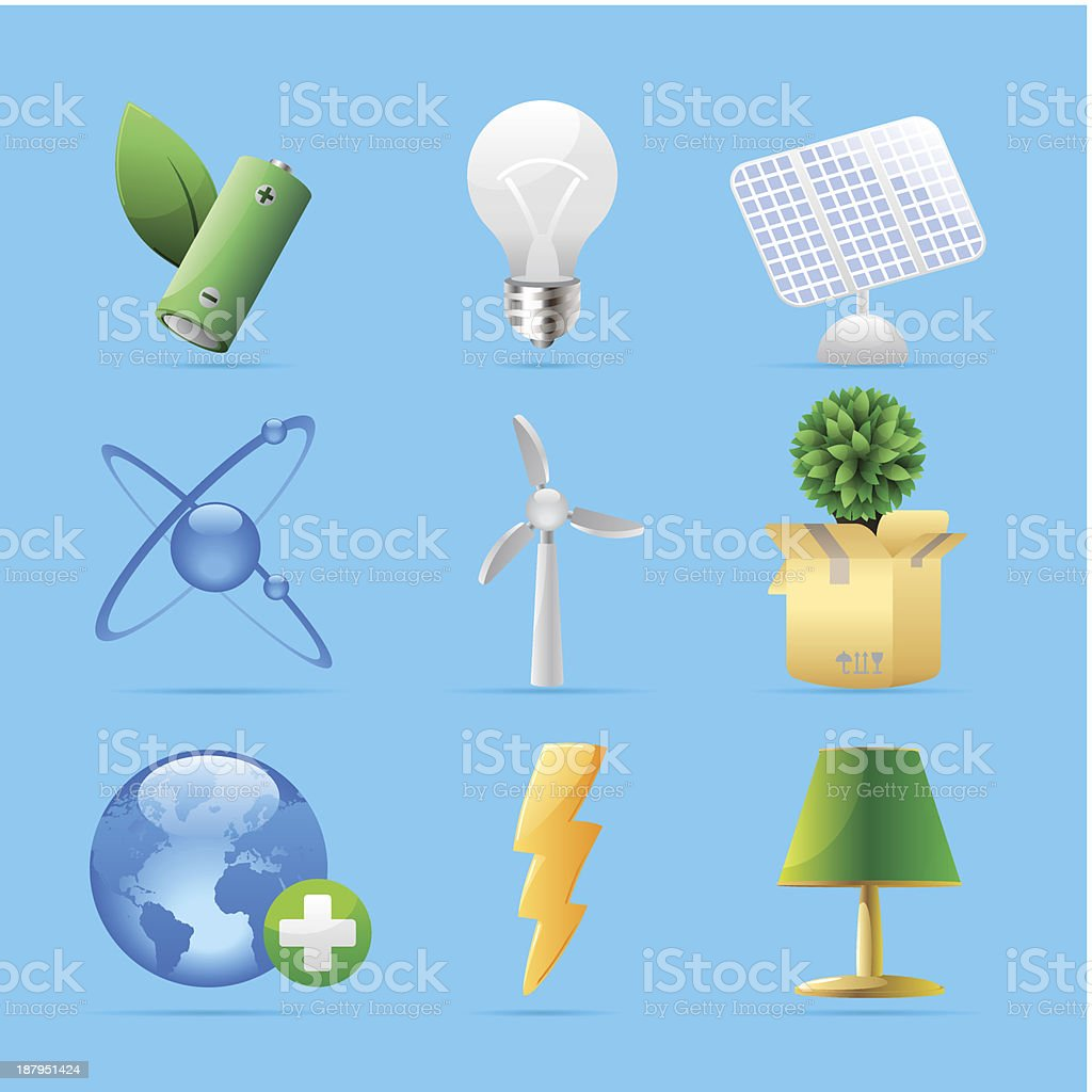 Icons for nature, energy and ecology royalty-free icons for nature energy and ecology stock vector art & more images of atom