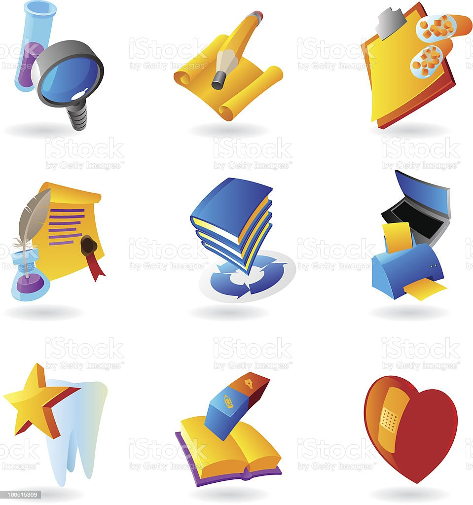 Icons for science and education royalty-free icons for science and education stock vector art & more images of blue