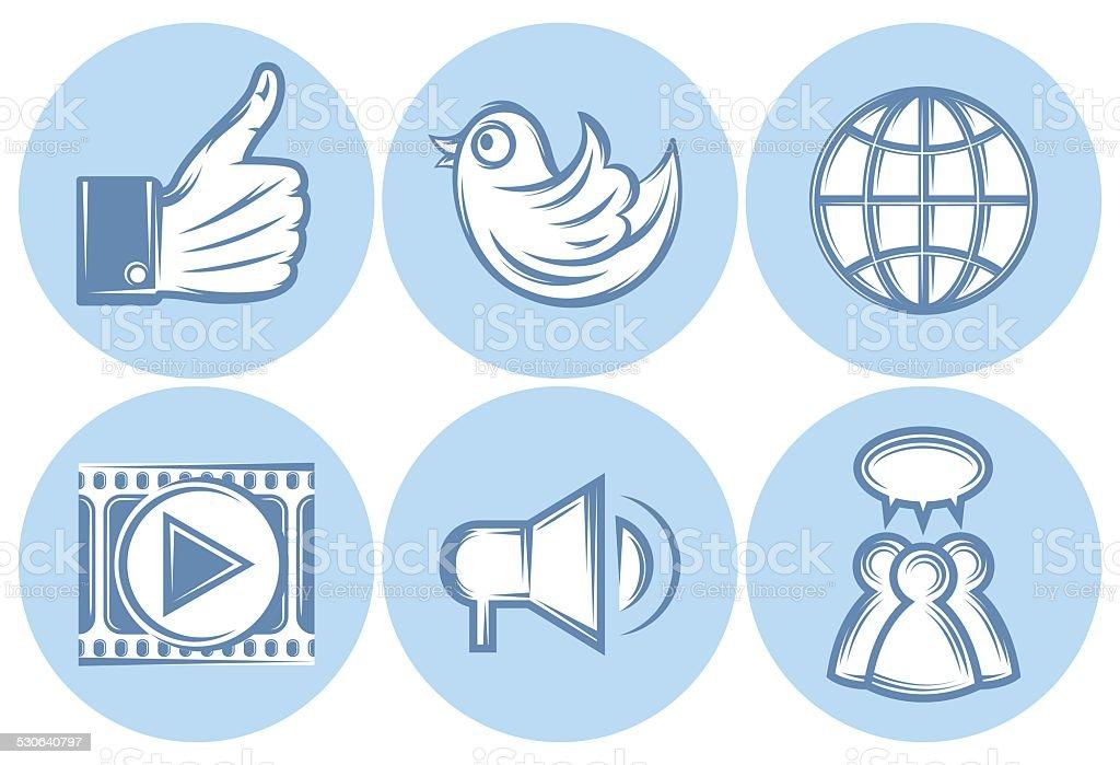 Vetores de Ícones Da Rede Social Internet Twitter Como