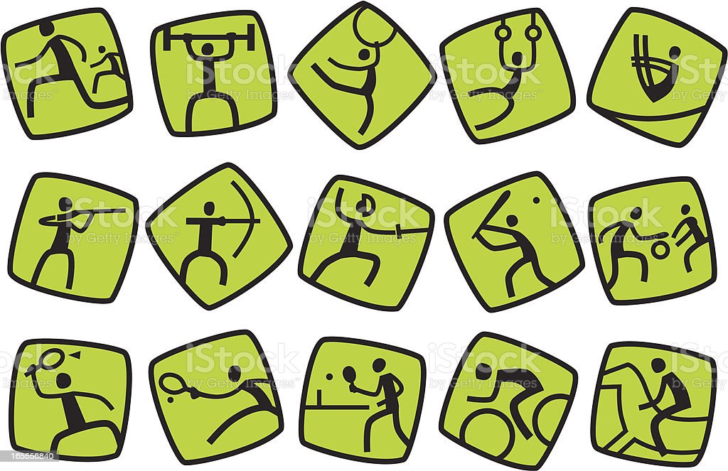 Icons for summer sport games. Part #1 royalty-free stock vector art