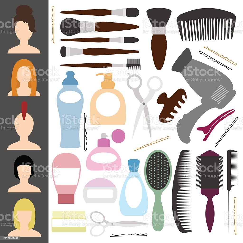 Icons For The Beauty Salon Other Items For The Cabin Stock Vector