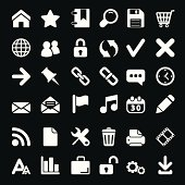 Icons For Web and Mobile on black background