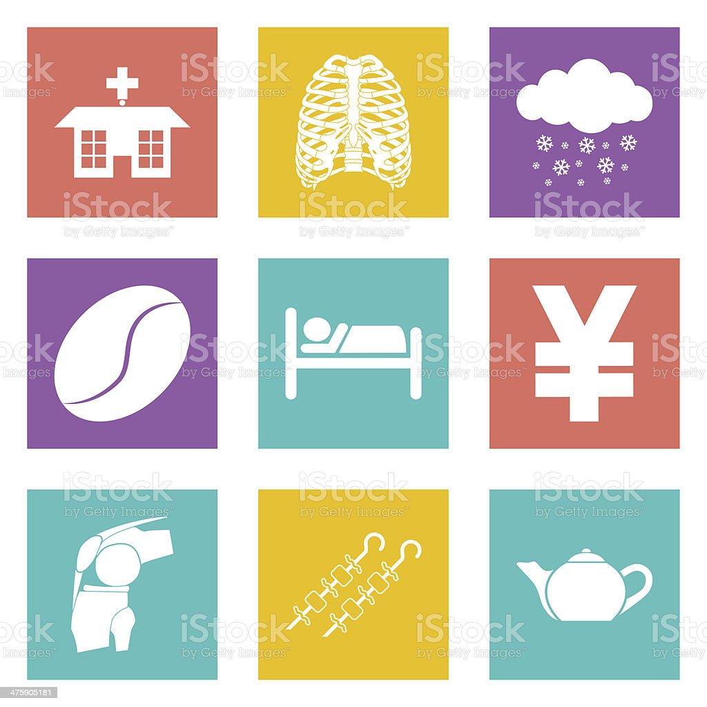 Symbole Für Webdesign Und Mobile Anwendungen Set 7 Stock Vektor Art ...