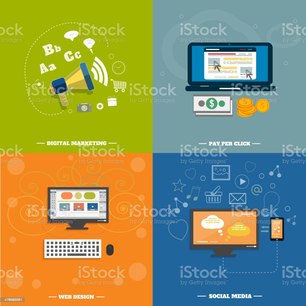 Icons For Web Design Seo Social Media Stock Illustration Download Image Now Istock