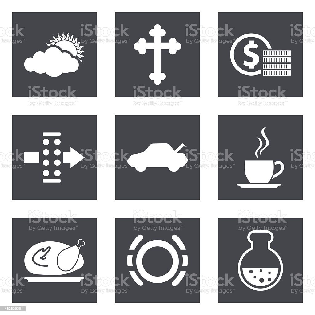 Icons for Web Design set 31 vector art illustration