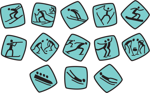 Icons for winter sport games