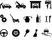 icons having to do with auto repairing