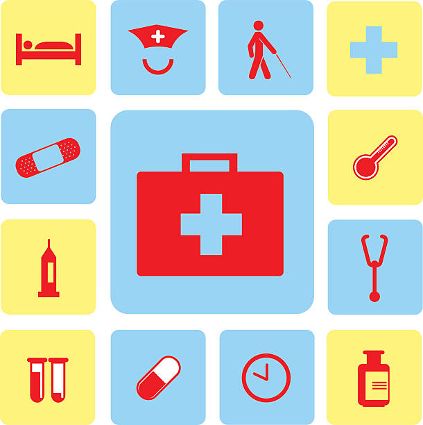 icons hospital set icons hospital set from Illustration male nurse stock illustrations