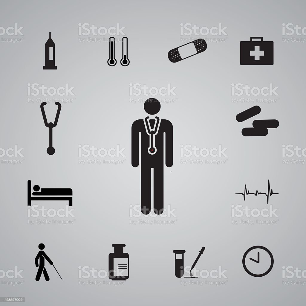 icons hospital set3 royalty-free stock vector art