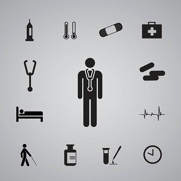 icons hospital set3 icons hospital set from Illustration male nurse stock illustrations