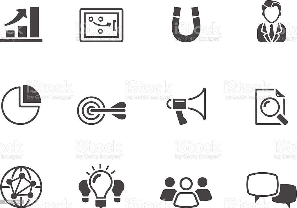 BW Icons - Marketing royalty-free bw icons marketing stock vector art & more images of aspirations