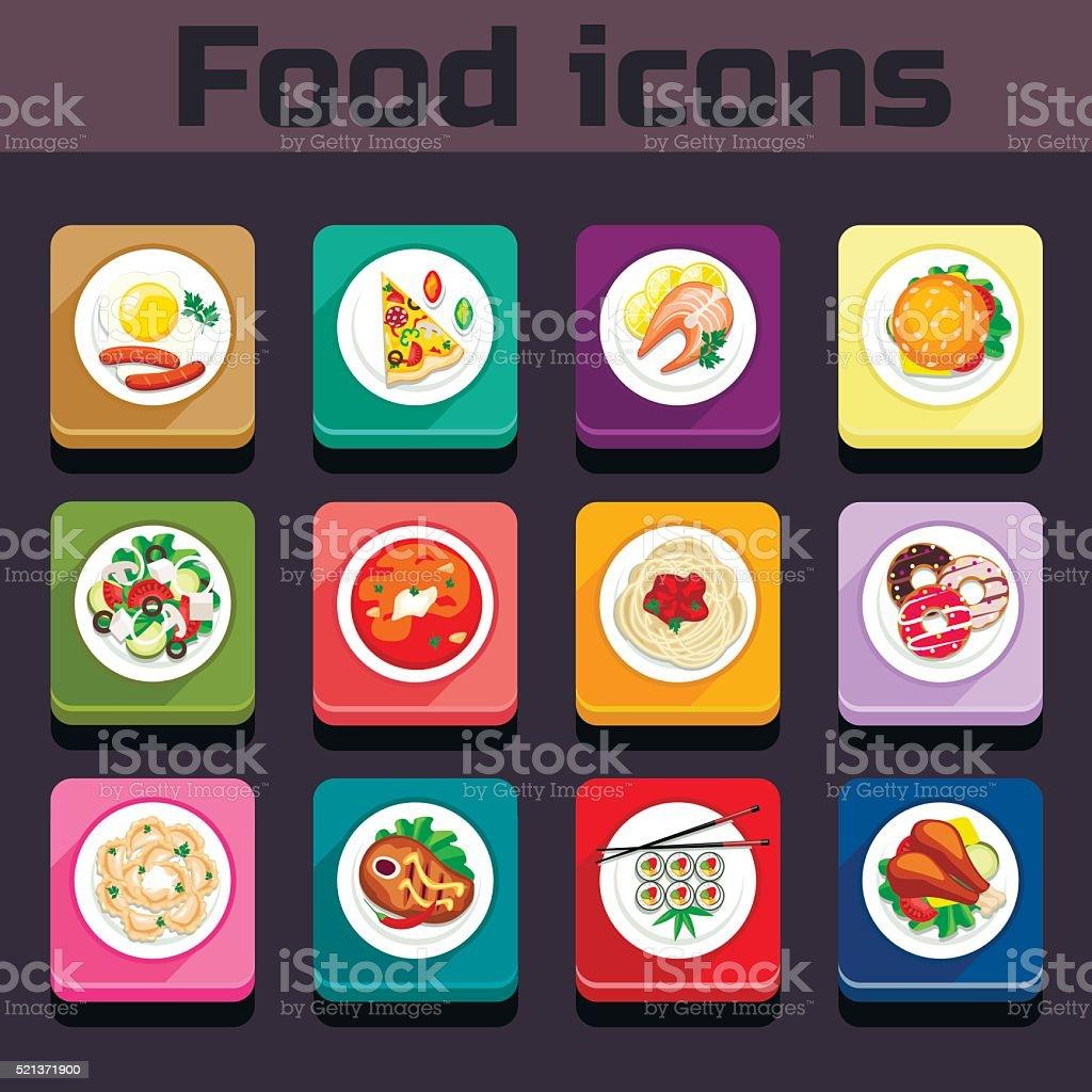 Symbole Speiseplan Anzeigen Stock Vektor Art und mehr Bilder von Blatt -  Pflanzenbestandteile