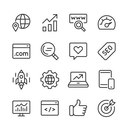 SEO Icons — Monoline Series