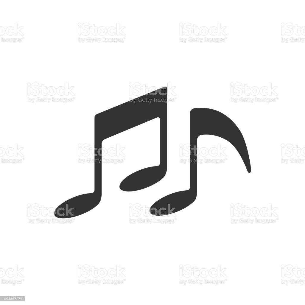 BW Icons - Music notes vector art illustration