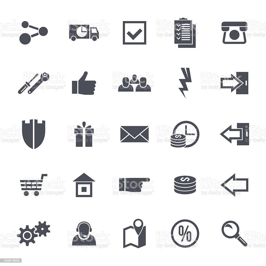 Icons navigation online store Icons navigation online store. Base set in a flat style. Black on a  white background Accessibility stock vector