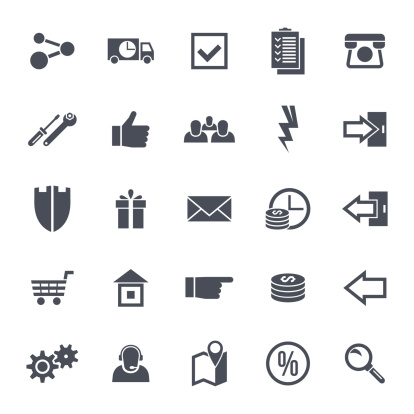 Icons Navigation Online Store Stock Illustration - Download Image Now